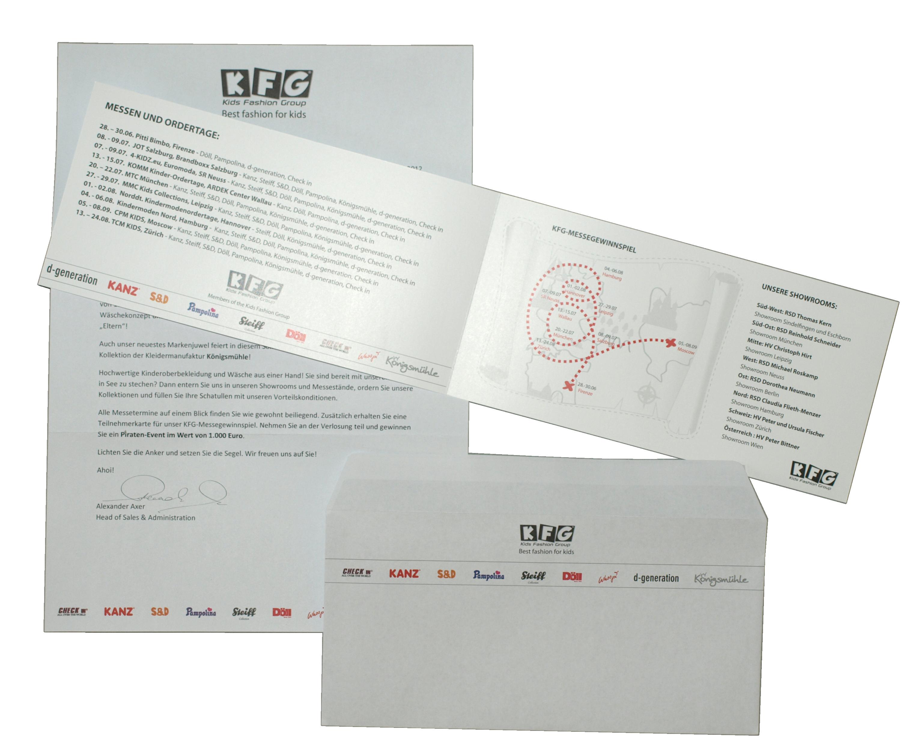 messe-einladung mit gewinnspiel - schick's weg mailings, Einladungen